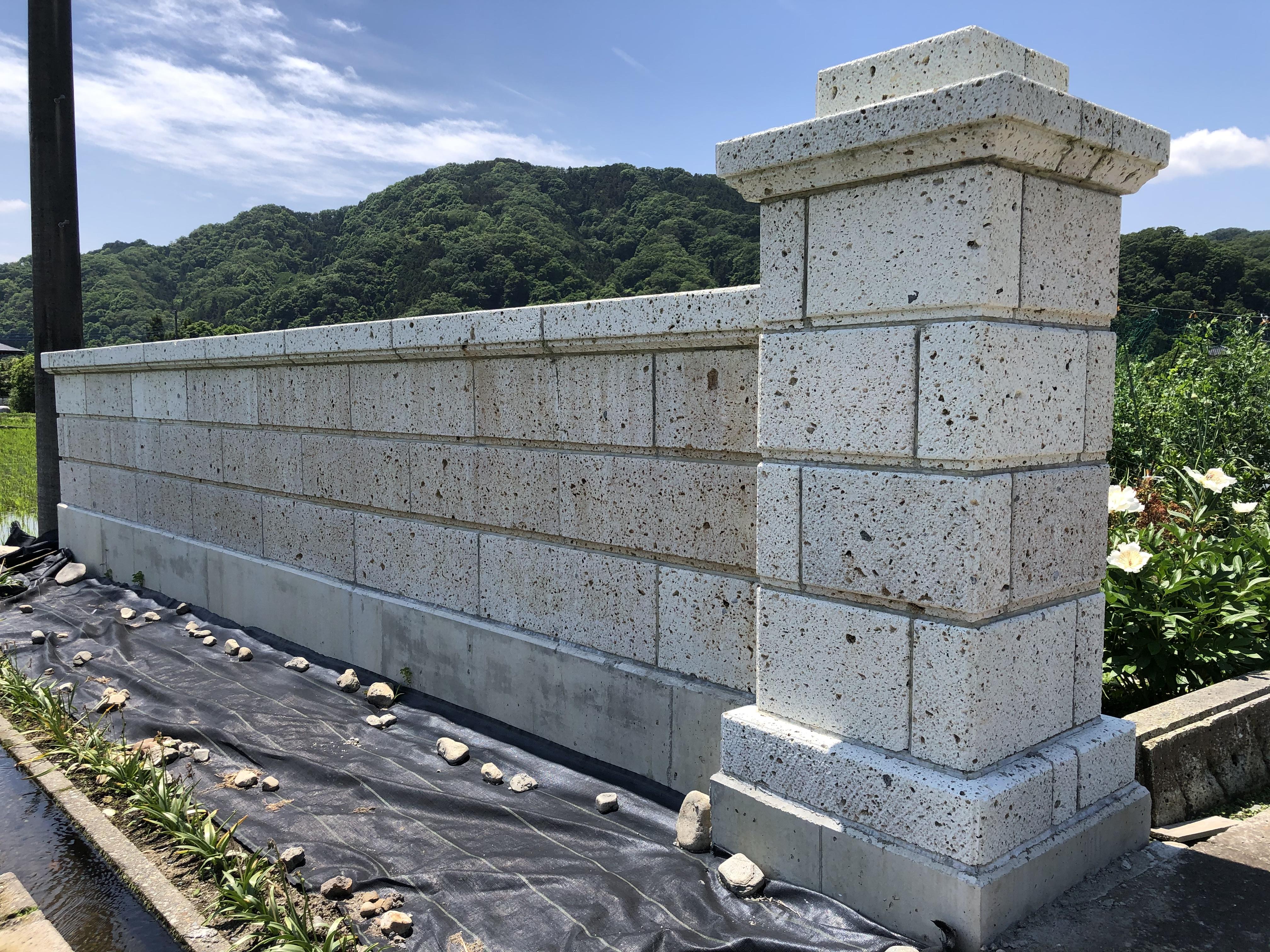 栃木県鹿沼市 石塀 施工後約一年です。